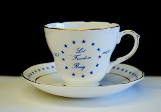 Vintage Royal Crownford 1776 - 1976 U.  S.  Bicentennial Cup & Saucer Limited Edition photo