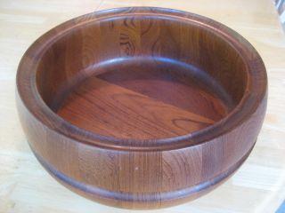 Antique Vintage Teak Bowl Scanform Danish Mid Century Hand Made Denmark photo