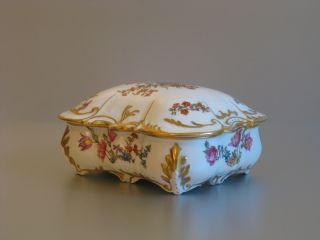 A Vintage Wonderful French M - Fres Limoges Porcelain Romantic Trinket Box photo
