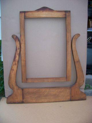 Vintage Vanity Mirror 1930 ' S - 40 ' S Wood photo
