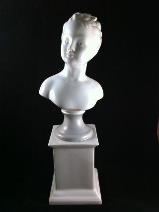Vintage Porcelain De Paris Figurine Bust & Head 14