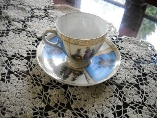 Vintage Bone China Cup And Saucer Set,  Unmarked photo