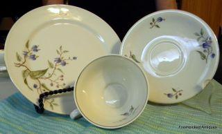 Bareuther Bavaria Tea Set With Dessert Plate,  Delicate Purple Flower Pattern photo
