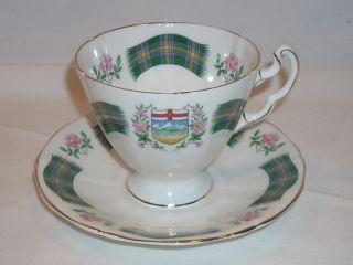 Vintage Ridgway Potteries Royal Adderley Alberta Tartan China Tea Cup & Saucer photo