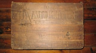 Antique Box Crate Auto Knitter Hosiery Company Buffalo Ny photo