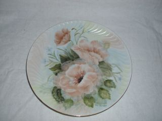 Signed Handpainted Porcelain Plate Stamped Bavaria,  Germany photo