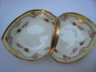 Nippon Hand Painted Gold Trimmed Candy Dish photo