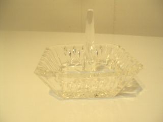 Vintage Crystal Glass Holder For Larger 2 3/4