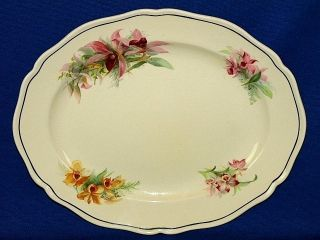Royal Doulton Orchid Flowers Small Serving Platter Plate Vintage China England photo