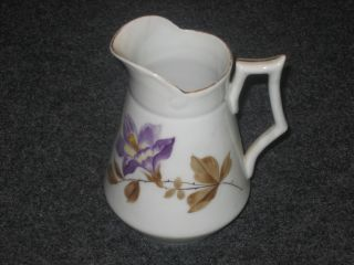 Vintage Austrian Antique Creamer,  Floral Pattern,  Austrian Made Creamer Antique photo