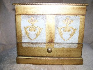 Florentine Style Wood Jewelry Chest/music Box photo