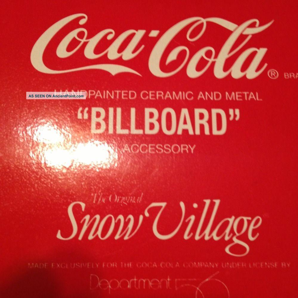 Coca - Cola Handpainted Ceramic And Metal Billboard