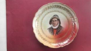 Antique Portrait Plate,  Sailor With Pipe photo