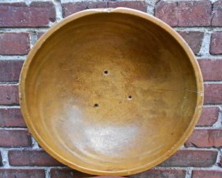 Antique Primitive Large Wooden Bowl - Very Large Size Circa Mid To Late - 1800s? photo