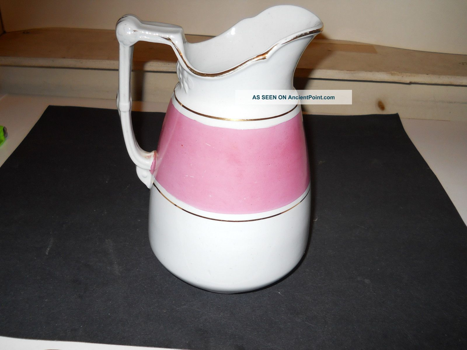 Antique Royal Patent Ironstone Pitcher Arthur J.  Wilkinson Burslem England Pitchers photo