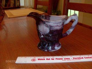 Antique Purple Slag Creamer photo