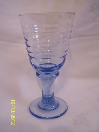 Blue Swirl Glass/stemware,  Elegant photo