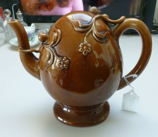 Copeland & Garret Earthenware Cadogan Teapot In Brown Glaze C 1833 - 1847 photo