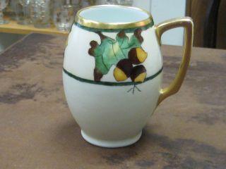 Art Nouveau Hp Gilded Bavarian Rosenthale Porcelain Tankard Mug Sgn ' D H.  Olsen photo