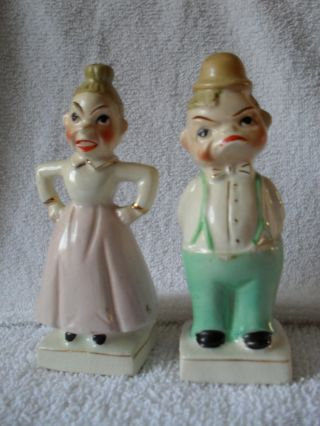 Vintage/antique Salt And Pepper Shakers photo