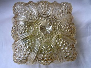 Vintage Mid Century Glass Flushmount Ceiling/sconce Lamp - 60 ' S - photo