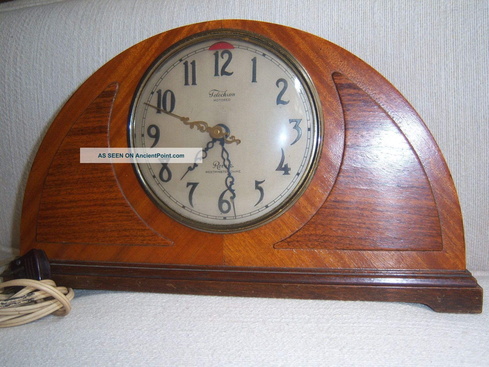 Clock Telechrom Revere Westminster Chime Model 59m38 From Around 1935 Clocks photo