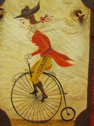Toleware Art Riding Highwheel Bike High Wheel Bicycle L.  Mcdowell Peter Ompir photo