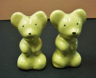 Vintage Ceramic Bear Salt & Pepper Shakers photo