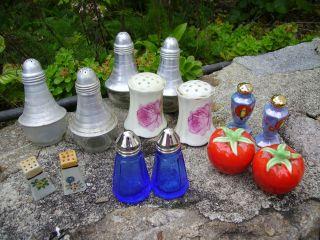 O & E.  G.  Royal Austria Salt & Pepper Blue Glass And More photo
