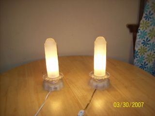 Art Deco Vintage Bullet Lamps Set Of Frosted 1930,  S photo