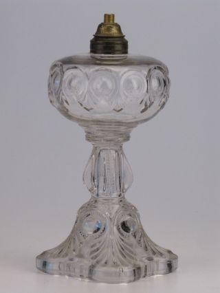 Antique Glass Oil Kerosene Lamp Base Old & photo