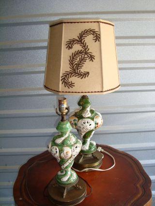 1930 - 40 ' S Capidomonte Lamps photo