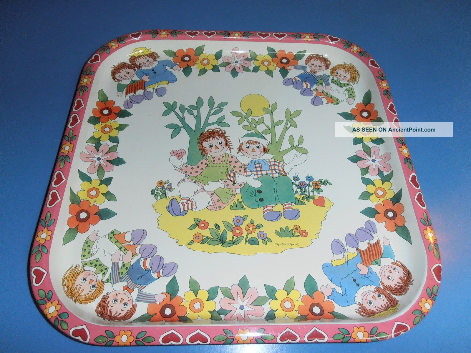 Rare Daher Decorated Ware Tin Tray Raggedy Ann Andy England