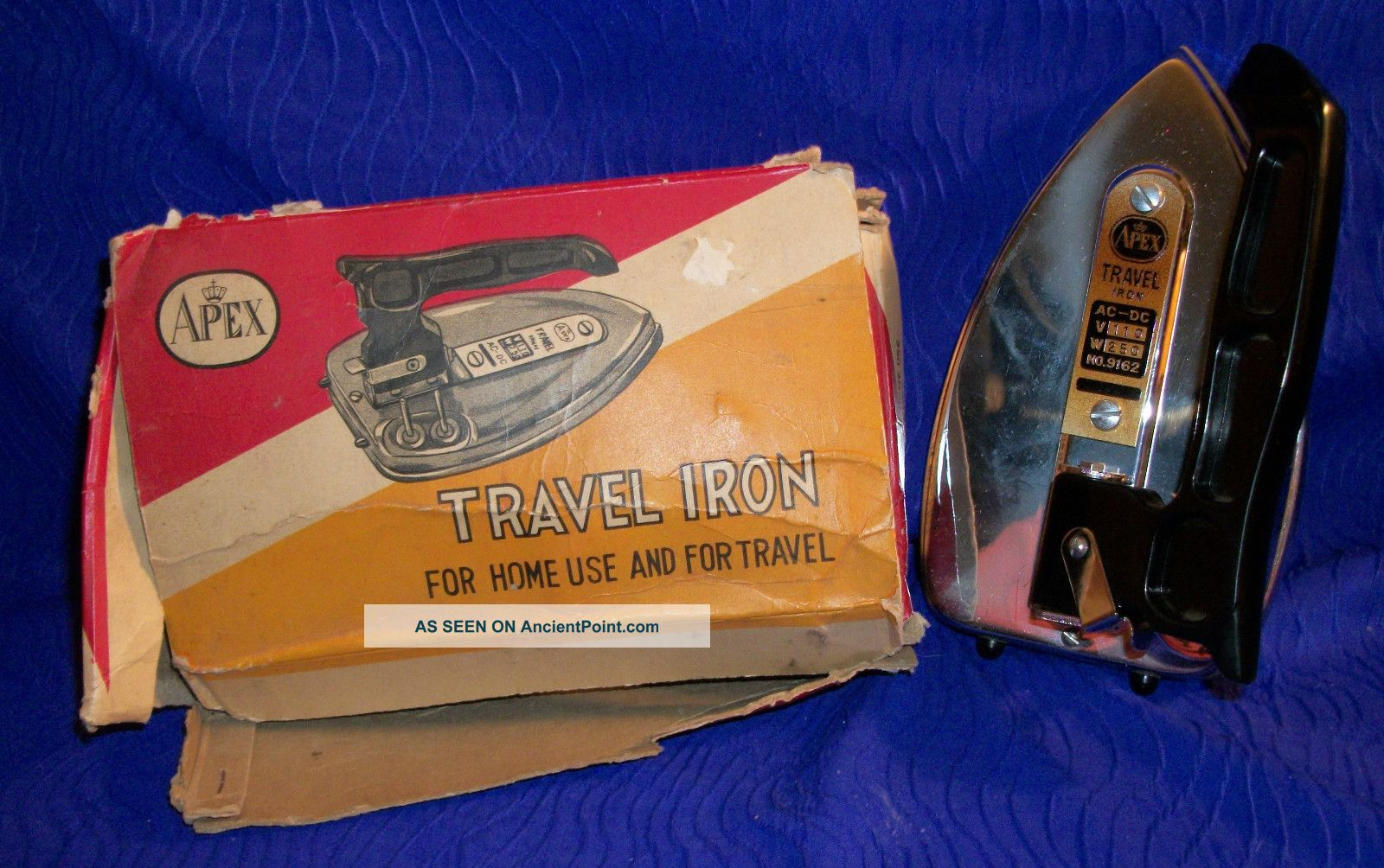 Vintage Travel Iron By Apex Metalware photo