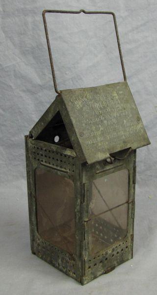 Antique Stonebridge Folding Lantern With Mica Windows photo