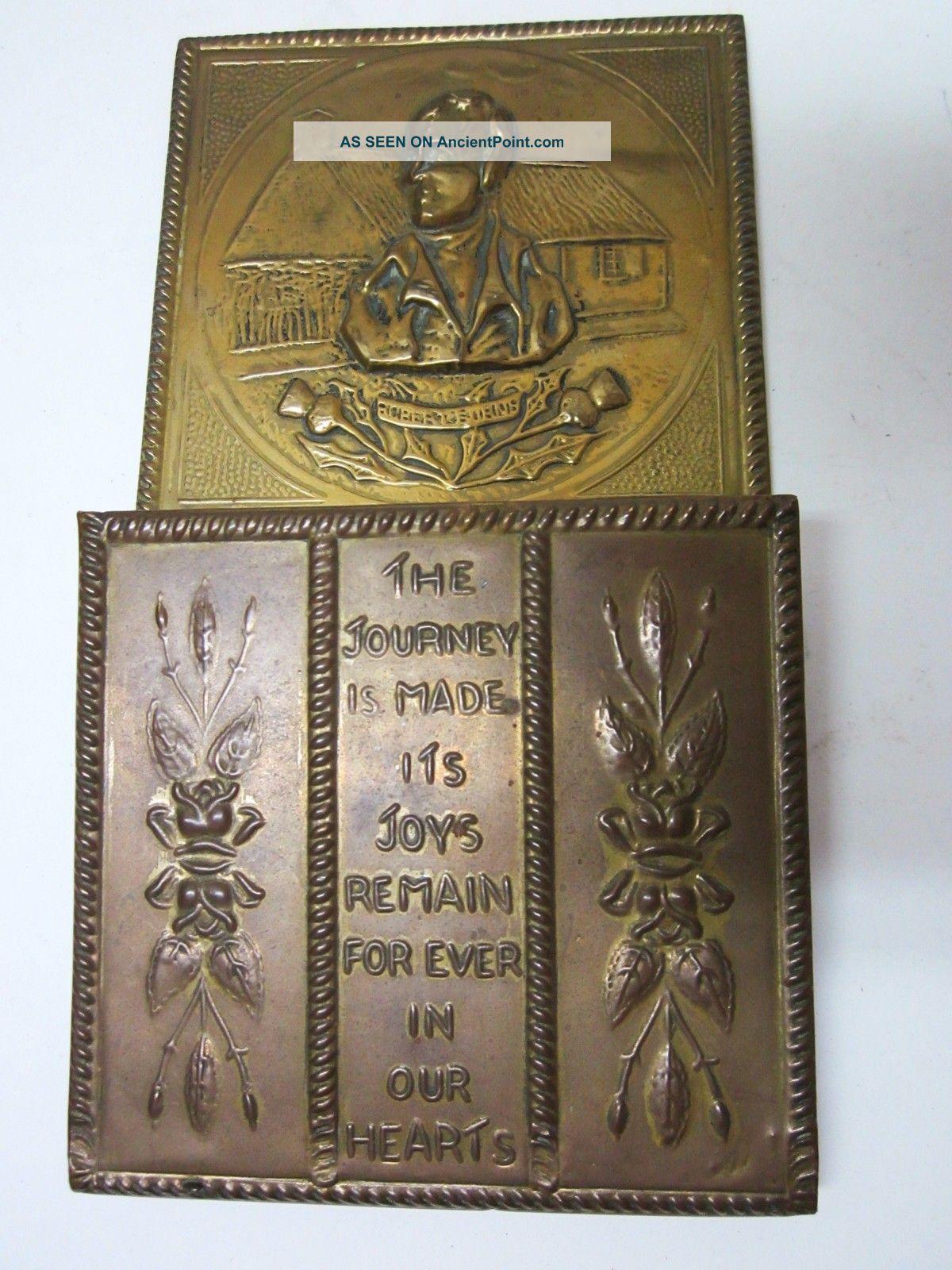 Antique Brass Mail Holder Wall Hanger Rack Organizer Ornate Repousse Old English Metalware photo