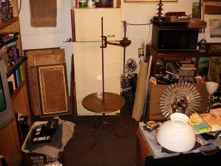 Antique Arts & Crafts William Wilhelm Hunt Diederich Wrought Iron Table Lamp photo