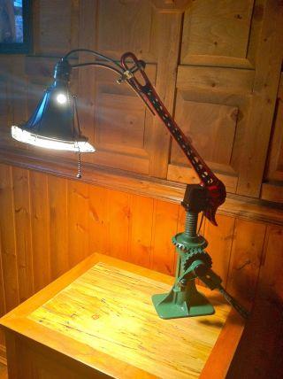 Bizarre Steam Punk Alchemy Vintage Cast Industrial Junk Parts Table Desk Lamp photo