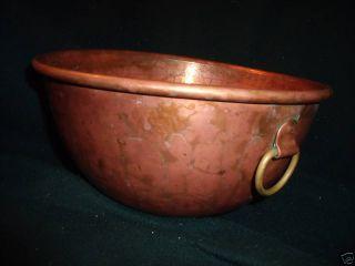 Antique Large Copper Bowl 5 - 1/2