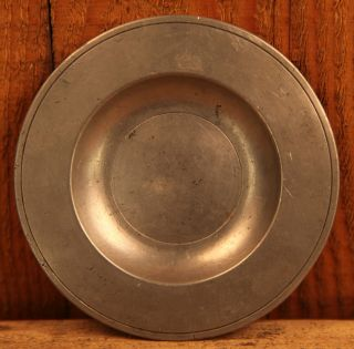 Circa 18th Century Fine Antique London Pewter Paten Or Dish photo
