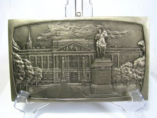 Russian/soviet Copper Plaque,  Tin Plated,  Peter The Great,  C1960 ' S.  - 70 ' S.  Excellent photo