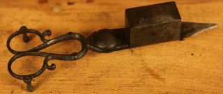 Antique 18th Century Vintage Iron Candle Wick Trimmer photo