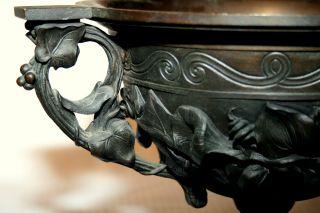 19th C Rococo Victorian Centerpiece/table Jardiniere Or Urn,  Bronze,  12
