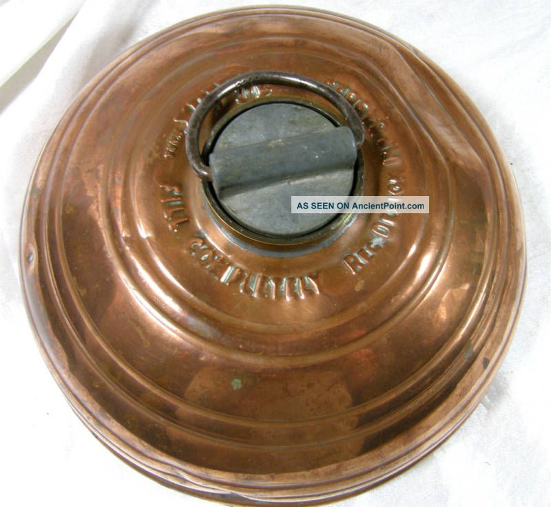 Wafax English Copper Pancake Footwarmer 1947 Metalware photo