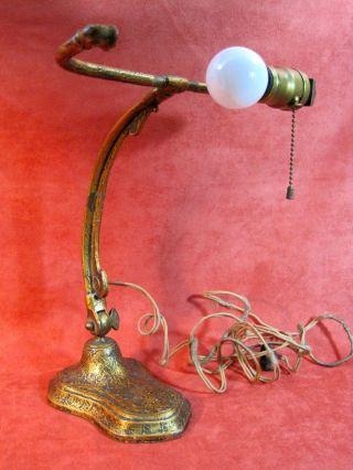 Handel Desk Lamp Base Antique For Restoration Or Use Ornate photo