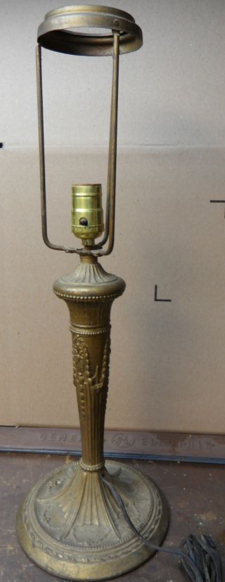 Vintage Cast Metal Table Lamp 22