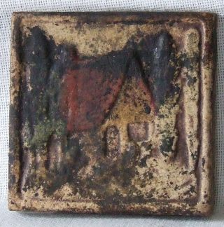 Claycraft California Art Tile Cottage In Landscape Scene Fr Fireplace photo