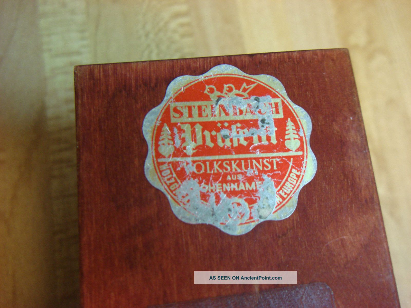 Vintage Playing Card Box Playing Card Wooden Box