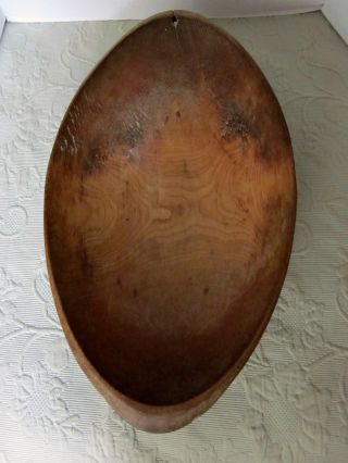 Oval Wooden Trencher/bowl 19.  Th.  C.  American Hand Hewn photo