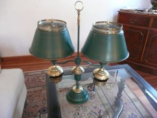 Vintage Tin Toleware Partner ' S Lamp / Bouillotte photo